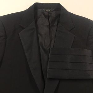 AFTER SIX Black Tuxedo Jacket w/ cummerbund 42S